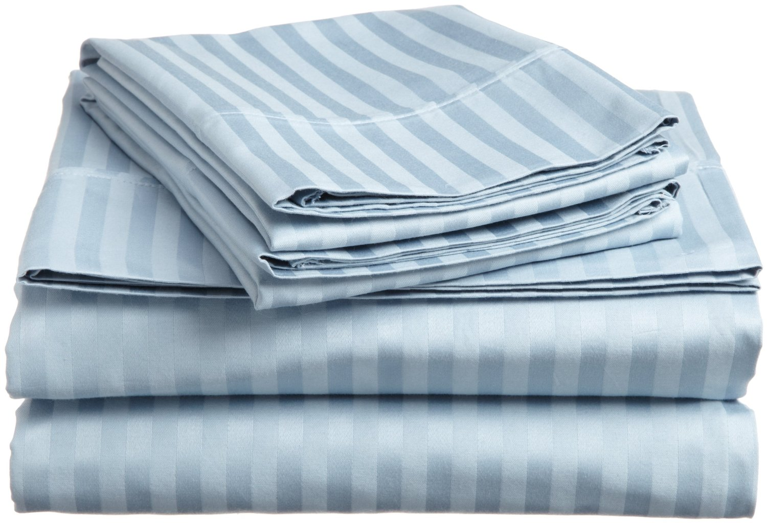 Luxury egyptian cotton 400 thread count stripe split king for What is thread count in sheets