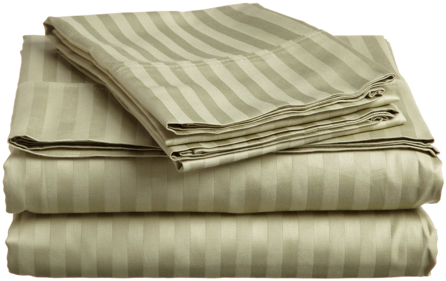 Luxury egyptian cotton 400 thread count stripe split king for Best egyptian cotton bed sheets