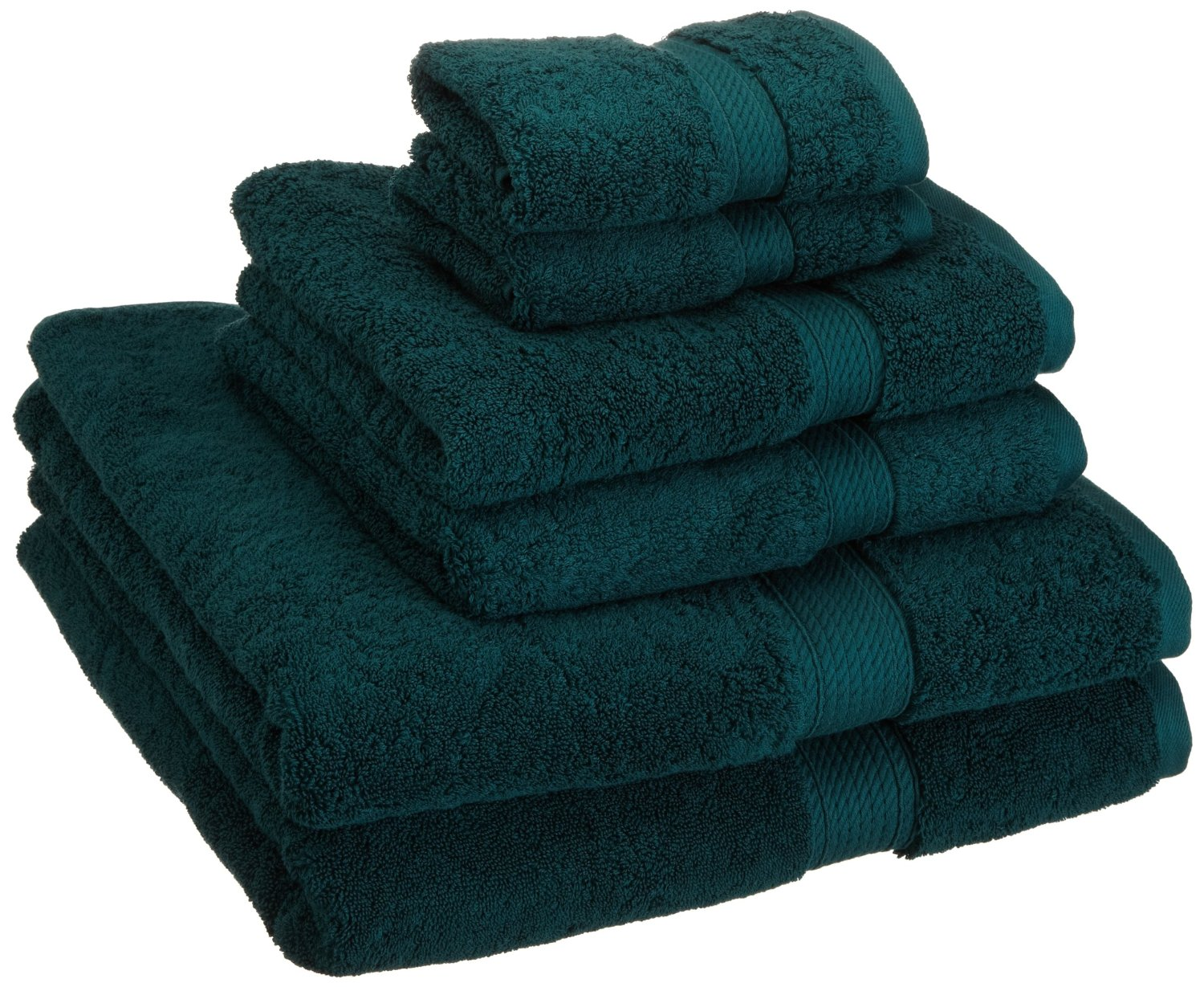 Luxury 900gsm 100 egyptian cotton 6 piece towel set ebay for Teal bath sets