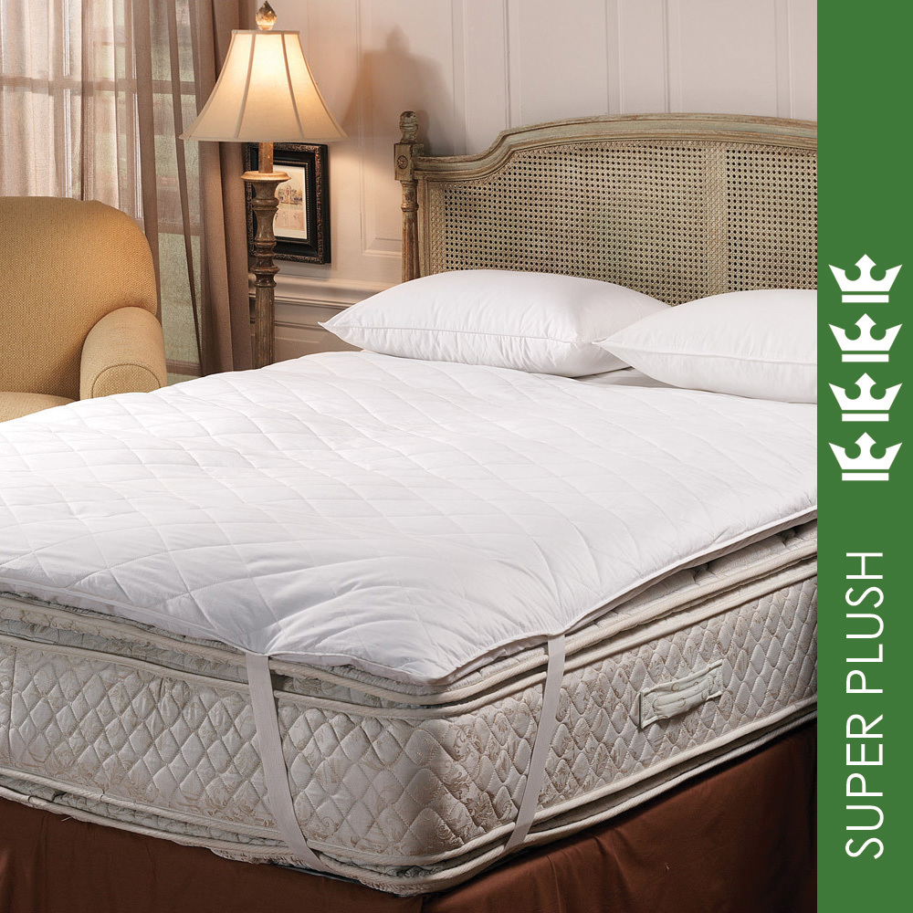 Made for USA: Luxury Hotel White Goose Down 5-95 Fill Baffle Box Feather Bed